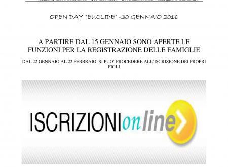 Gennaio 2016 parte l'Open Day